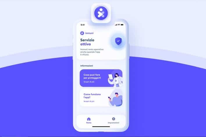 funzionamento app immuni privacy control