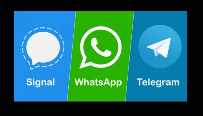 Signal-WhatsApp-Telegram
